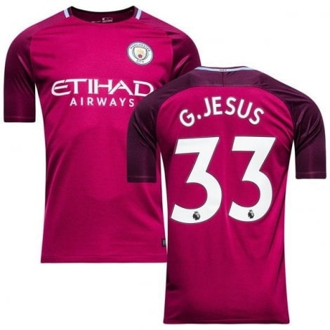 Гостевая футболка Манчестер Сити 2017-2018 Жезус