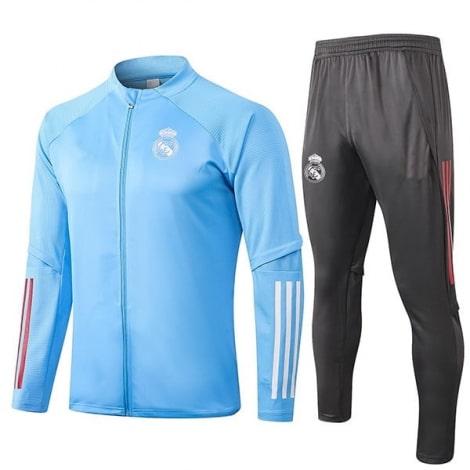 Серо-голубой костюм Реал Мадрид 2020-2021