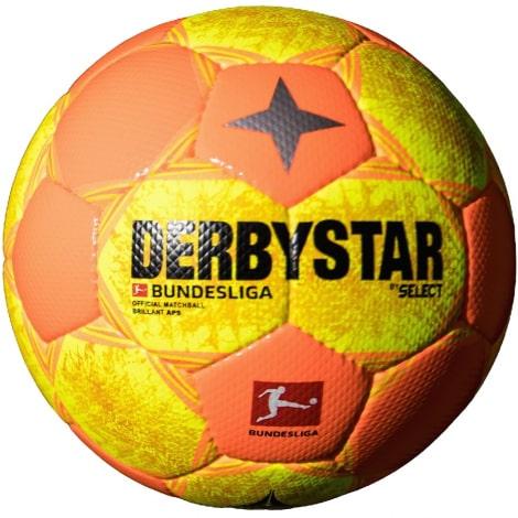 Желто оранжевый мяч БундесЛиги по футболу 2021-2022
