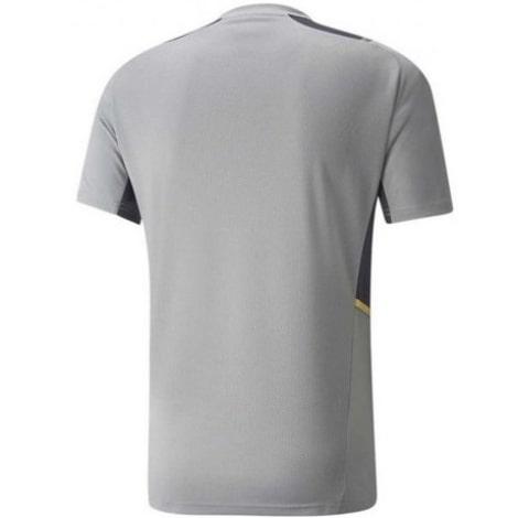 Серая тренировочная футболка Боруссии Дортмунд 2021-2022 сзади