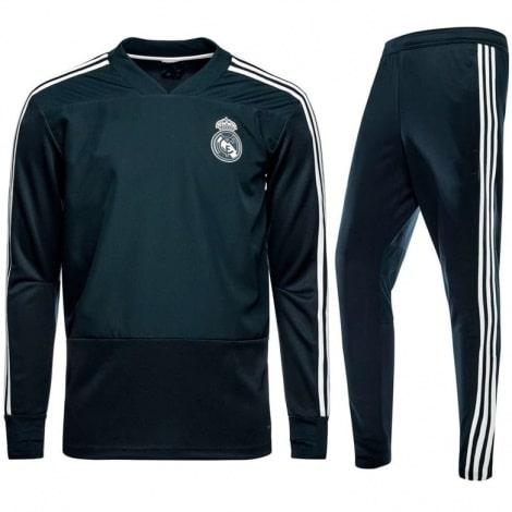 Взрослый темно-зеленый костюм Реал Мадрид 18-19