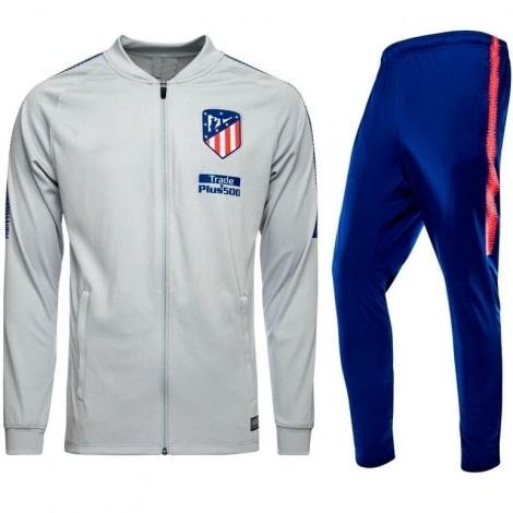 Взрослый серо-синий костюм Атлетико Мадрид 18-19