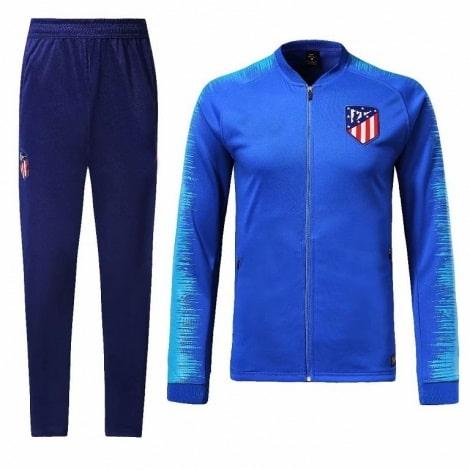 Взрослый синий костюм Атлетико Мадрид 18-19 кофта и штаны