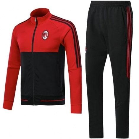 Взрослый красно-черный костюм Милана 18-19 кофта и штаны