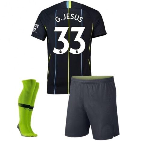 Детская гостевая футбольная форма Жезус 2018-2019