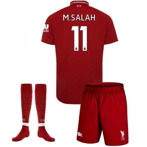 Детская домашняя футбольная форма Салах 2018-2019 номер 11