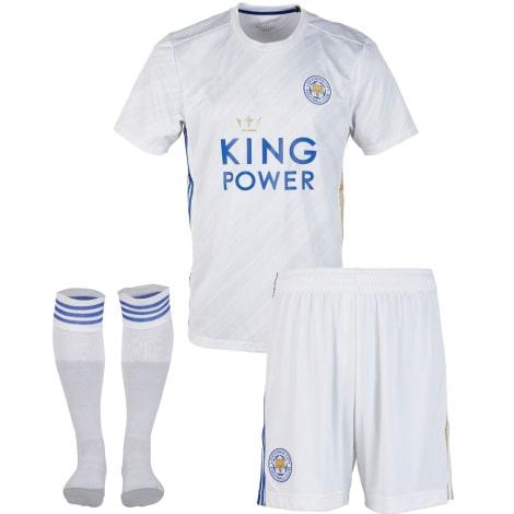 Комплект взрослой гостевой формы Лестер Сити 2020-2021 футболка шорыт и гетры