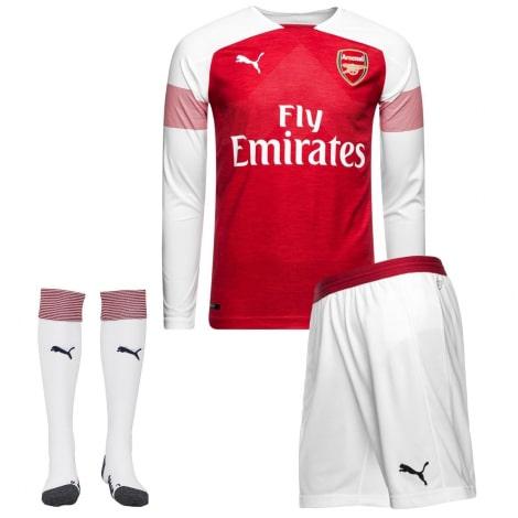 Взрослая домашняя форма Арсенал 18-19 c длинными рукавами футболка шорты и гетры