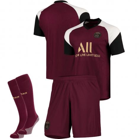 Комплект детской третьей формы ПСЖ 2020-2021 футболка шортыи гетры