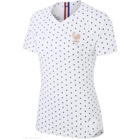 Женская гостевая футболка сборной Франции на ЕВРО 2020