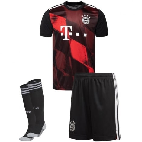 Комплект детской третьей формы Баварии 2020-2021 футболка шорыт и гетры