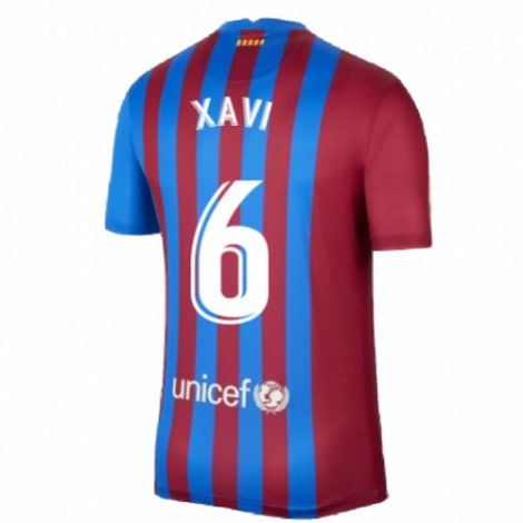 Детская домашняя футбольная форма Хави 2021-2022