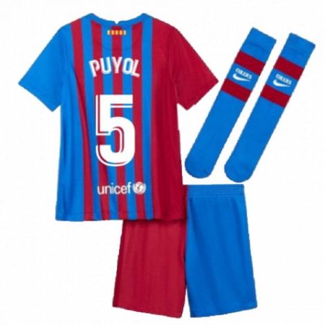 Детская домашняя футбольная форма Пуйоль 2021-2022