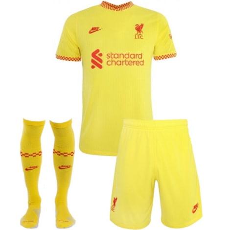 Комплект детской третьей формы Ливерпуля 2021-2022
