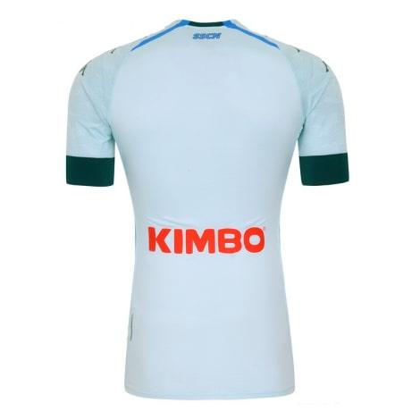 Детская гостевая футбольная форма Наполи 2020-2021 футболка сзади