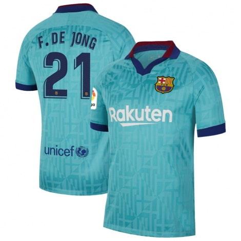 Третья футболка Барселоны 2019-2020 Фрэнки Де Йонг номер 21