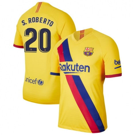 Гостевая футболка Барселоны 2019-2020 Серхио Роберто номер 20