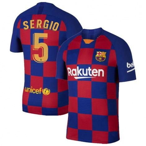Домашняя футболка Барселоны 2019-2020 Серхио Бускетс