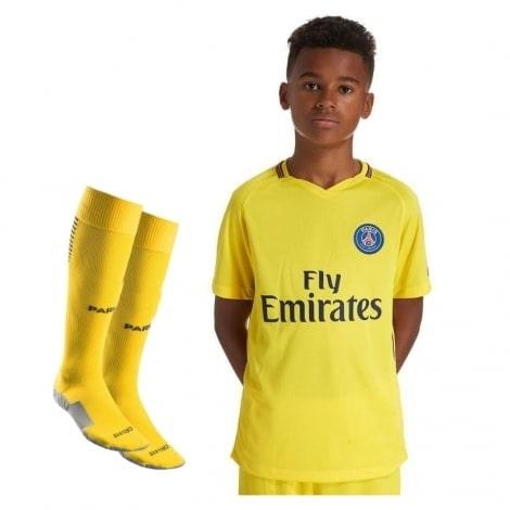 Детская гостевая футбольная форма ПСЖ 2017-2018 футболка, шорты и гетры