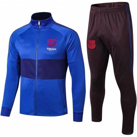 Взрослый черно-синий костюм Барселоны 19-20