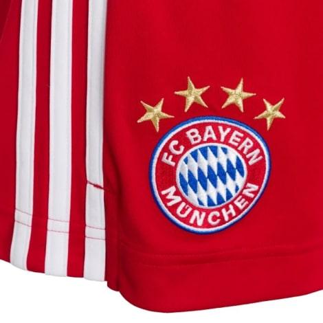 Домашняя форма Баварии с длинными рукавами 20-21 шорты герб клуба