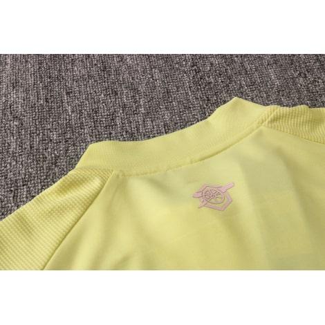 Желтый спортивный костюм Арсенал 2021-2022 воротник сзади