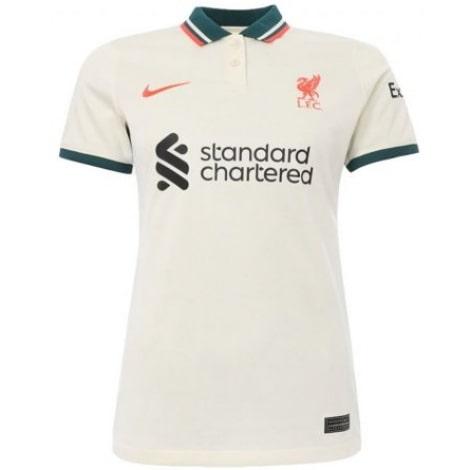 Женская гостевая футболка Ливерпуля 2021-2022