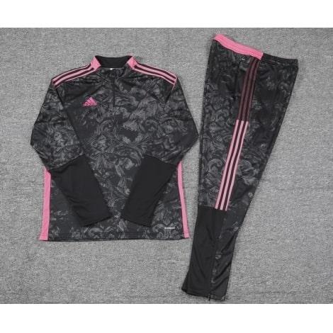 Черно-розовый костюм Реал Мадрид 2021-2022 воротник