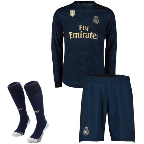 Взрослая гостевая форма Реал Мадрид 19-20 c длинными рукавами