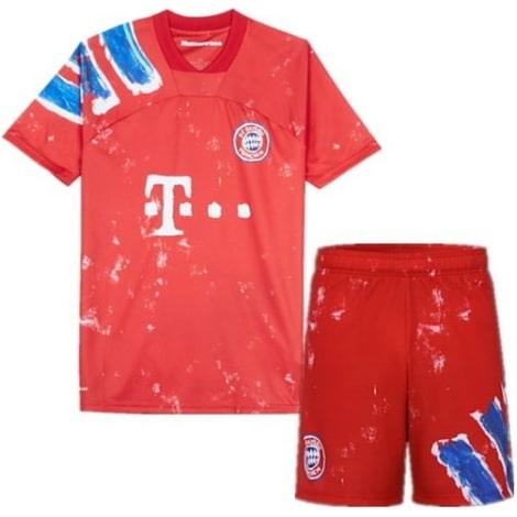 Детская лимитированная форма Баварии 2020-2021 футболка и шорты