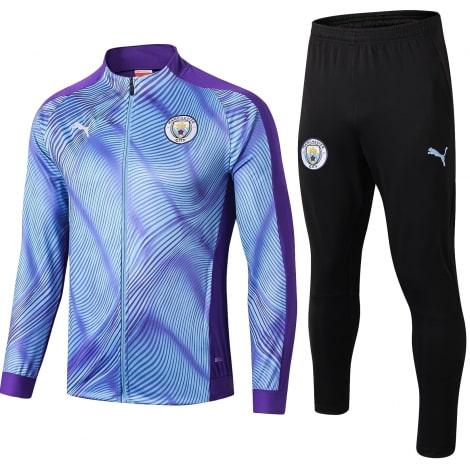 Детский черно-голубой костюм Манчестер Сити 2019-2020