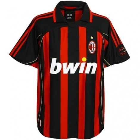 Домашняя ретро футболка Милан 2006-2007