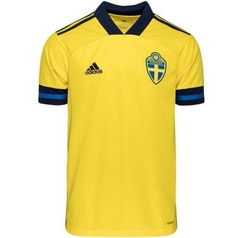 Домашняя футболка сборной Швеции на чемпионат Европы 2020