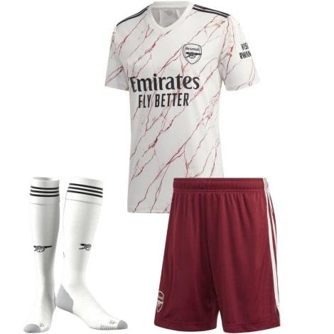 Комплект детской гостевой формы Арсенала 2020-2021 футболка шорты и гетры