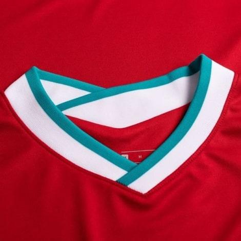 Детская домашняя футбольная форма Садио Мане 2020-2021 футболка воротник спереди