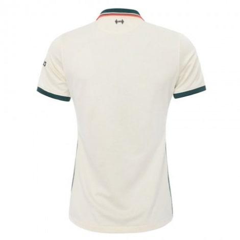 Женская гостевая футболка Ливерпуля 2021-2022 сзади