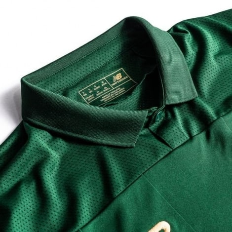 Женская Домашняя игровая футболка сборной Ирландии на ЕВРО 2020 воротник