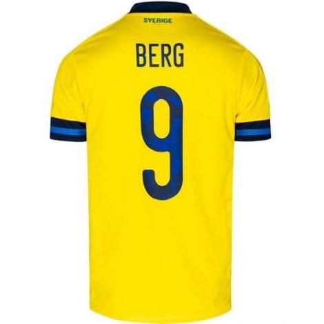 Детская домашняя футбольная форма Швеции 2020 БЕРГ