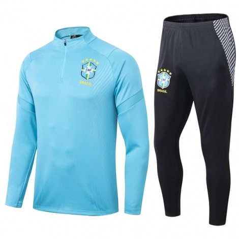 Черно голубой костюм сборной Бразилии по футболу 2020-2021