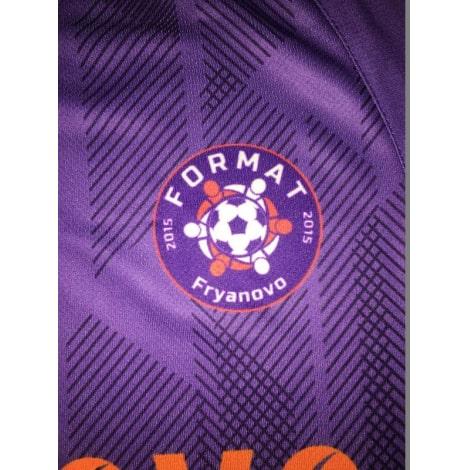 Футбольная форма фиолетовая дизайн Ливерпуля 18-19 на заказ логотип клуба