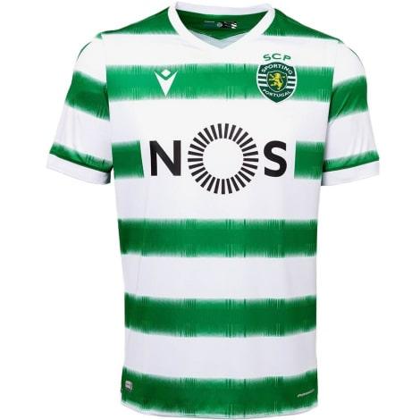 Комплект взрослой домашней формы Спортинг 2020-2021 футболка
