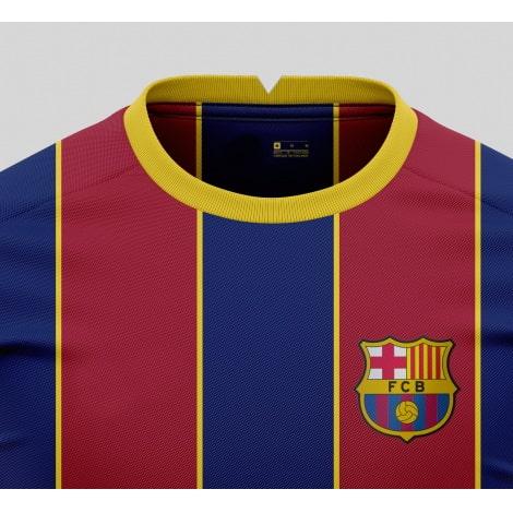 Домашняя игровая футболка Барселоны 2020-2021 вблизи