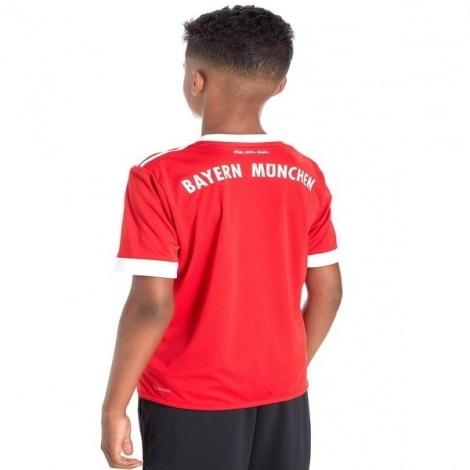 Детская домашняя футбольная форма Баварии 2017-2018 сзади