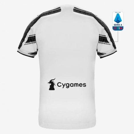 Домашняя аутентичная футболка Ювентуса 2020-2021 сзади