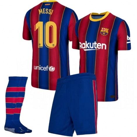 Детская домашняя футбольная форма Месси 2020-2021