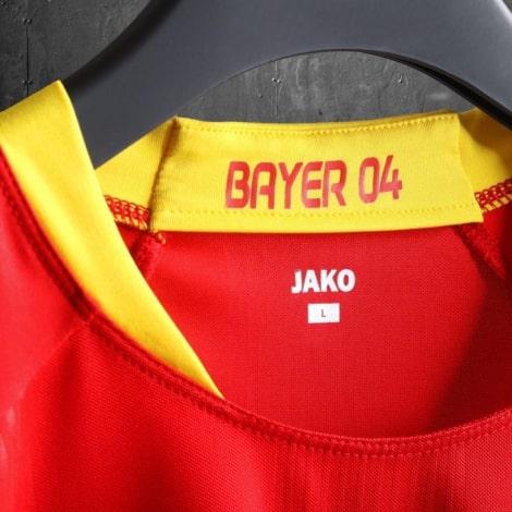 Гостевая игровая футболка Байер Леверкузен 2020-2021 воротник