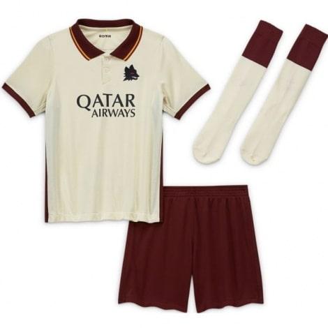 Детская гостевая футбольная форма Ромы 2020-2021
