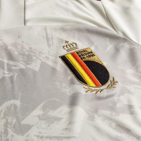 Детская гостевая форма Бельгии на Чемпионат Европы 2020-21 герб сборной