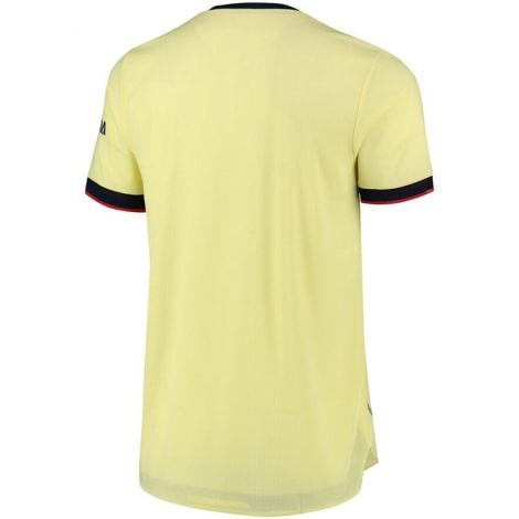 Комплект детской гостевой формы Арсенала 2021-2022 футболка сзади