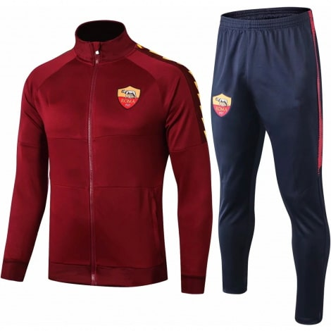 Бордово синий тренировочный костюм Ромы 2020-2021